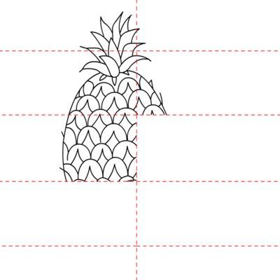 Ananas zeichnen lernen schritt für schritt tutorial - Zeichnen ...