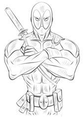 Deadpool Zeichnen Lernen Schritt F 252 R Schritt Tutorial