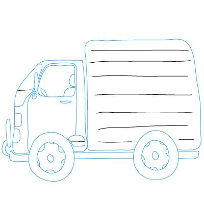 Lastkraftwagen zeichnen lernen schritt für schritt ...