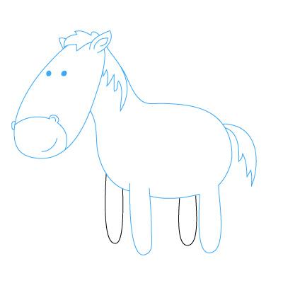 pferd zeichnen lernen schritt f r schritt tutorial zeichnen leicht gemacht. Black Bedroom Furniture Sets. Home Design Ideas