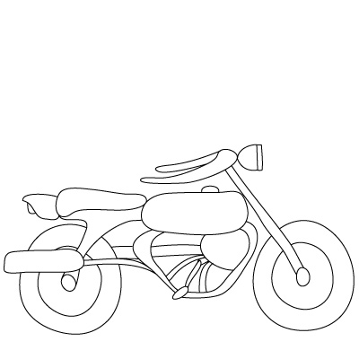 Motorrad zeichnen lernen schritt f r schritt tutorial - Dessin moto simple ...