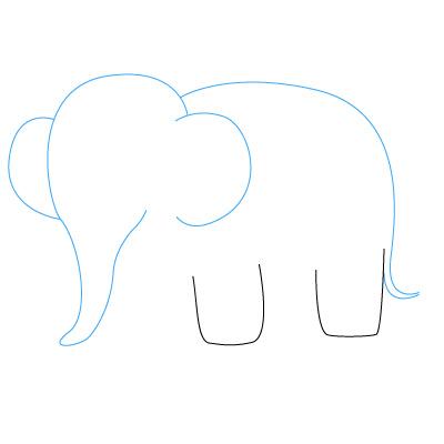 elefanten zeichnen lernen schritt f r schritt tutorial zeichnen leicht gemacht. Black Bedroom Furniture Sets. Home Design Ideas