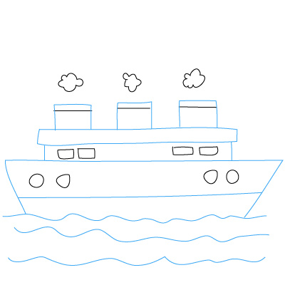 Schiff zeichnen lernen schritt für schritt tutorial ...
