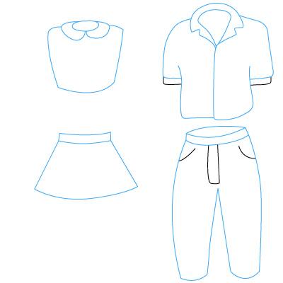kleidung zeichnen lernen schritt f r schritt tutorial zeichnen leicht gemacht. Black Bedroom Furniture Sets. Home Design Ideas
