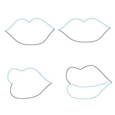 lippen zeichnen lernen schritt f r schritt tutorial zeichnen leicht gemacht. Black Bedroom Furniture Sets. Home Design Ideas