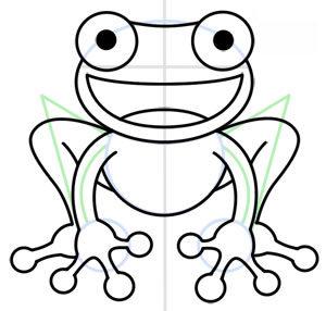 frosch zeichnen lernen schritt f r schritt tutorial zeichnen leicht gemacht. Black Bedroom Furniture Sets. Home Design Ideas