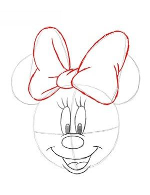 How To Draw Minnie Mouse Face On Cake