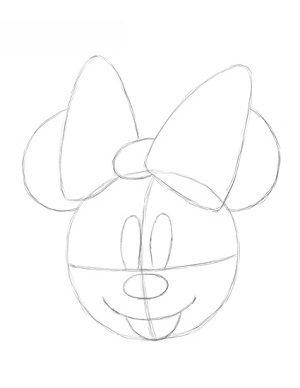 Minnie Mouse Zeichnen Lernen Schritt Für Schritt Tutorial