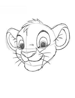 König Der Löwen Simba Zeichnen Lernen Schritt Für Schritt Tutorial