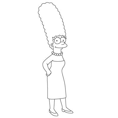Marge simpson zeichnen lernen schritt f r schritt tutorial zeichnen leicht gemacht - Comment faire bart simpson ...
