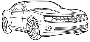 Easy To Draw Camaro Car