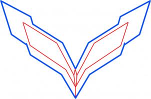 2017 Cadillac Ats Coupe >> Corvette-Logo zeichnen lernen schritt für schritt tutorial ...