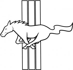 Jeep Wrangler Pickup >> Mustang-Logo zeichnen lernen schritt für schritt tutorial - Zeichnen leicht gemacht