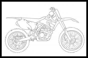 Motorrad Cross Zeichnen Lernen Schritt F 252 R Schritt