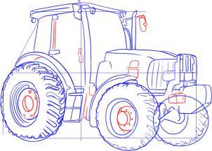 Traktor Zeichnen Lernen Schritt F 252 R Schritt Tutorial