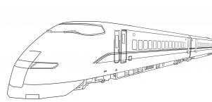 modern train coloring pages - photo#16