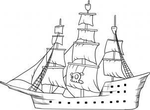 Piratenschiff zeichnen lernen schritt für schritt tutorial ...