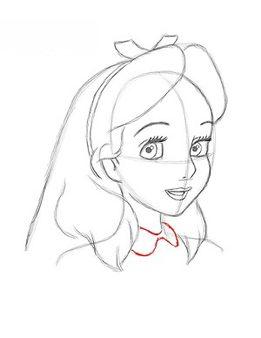 Alice Im Wunderland Zeichnen Lernen Schritt Fur Schritt Tutorial