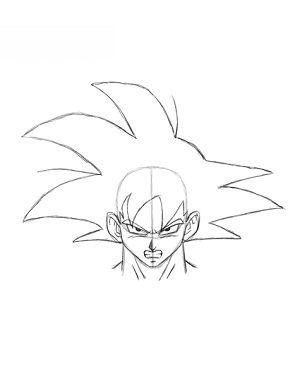 Dragon Ball Goku Zeichnen Lernen Schritt Fur Schritt Tutorial