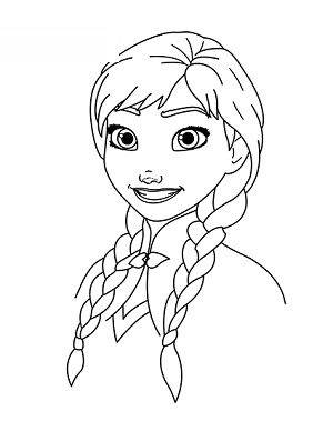 elsa headshot coloring pages - photo#23
