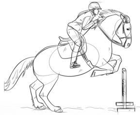 Springendes Pferd Zeichnen Lernen Schritt Für Schritt Tutorial