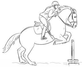 Springendes Pferd zeichnen lernen