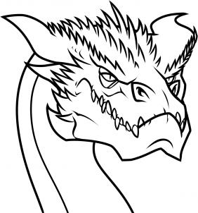 Drache Smaug zeichnen lernen